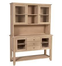 54 Inch] Cosmopolitan Server & Hutch Bare Wood Fine Wood