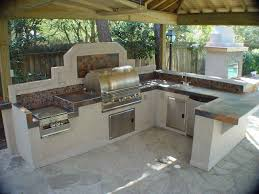Outdoor Kitchen Countertop Kitchen Awesome Outdoor Kitchen Designs With Stainless Steel