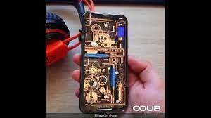 iPhone Live Wallpaper 3d Golden Gears ...