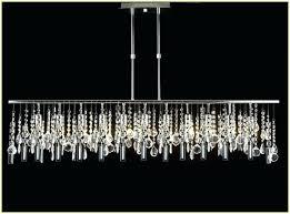 linear crystal chandelier modern rectangular island dining room swarovski