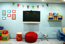 modern playroom furniture. Fun And Creative Kids Playroom Ideas: Wall Mount Tv Interior Paint Ideas With Modern Furniture