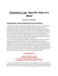 How To Write A Formal Lab Report For Chemistry Copper Lab Report