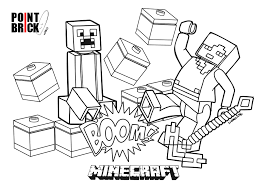 Point Brick Blog Disegni Da Colorare Lego Minecraft Steve E Alex