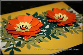 Paper Punches Flower Craft Ideas For All Flower Greeting Card Using Paper Punches