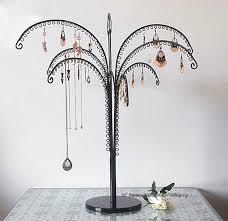 Large Jewelry Tree Display Stand Large Metal Earring Display Tree Jewelry Showing Rack Shelf 49