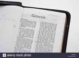 Christian Bible Open At The First Page Of The Book Of