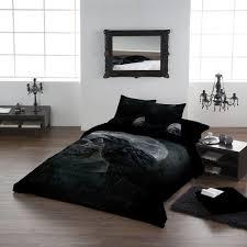 image of california king sugar skull bedding