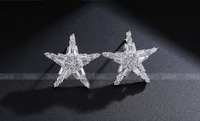 <b>ZAKOL Exquisite</b> Star White Color Earrings Top Quality <b>Zirconia</b> ...