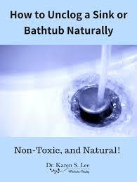 faucet water flowing down a sink drain my bathtub was semi clogged