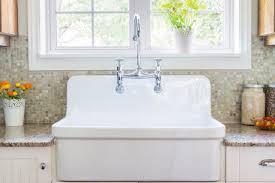 a porcelain kitchen sink