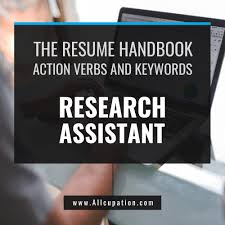 The Curriculum Vitae Handbook Enchanting The Resume Handbook Research Assistant Resume Samples With Action