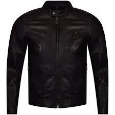 belstaff v racer black leather jacket