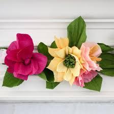 Paper Flower Garland Paper Flower Garland Craftgawker