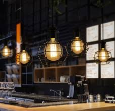 bar pendant lighting. Nordic Loft Style Edison Droplight Industrial Vintage Pendant Lamp Fixtures For Dining Room Bar Hanging Light Lighting R