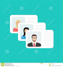 Photo And Person Design 113011284 Illustration Identification Info Flat Text Vector Data Stock Passport Card Clipart Entry - Identity Document Personal Of With