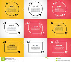 Website Review Quote Blank Template Stock Vector Illustration Of