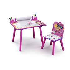 disney minnie mouse art desk with dry erase tabletop by delta children free today com 21517024