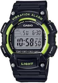 casio men 039 s sport digital watch vibration alarm black image is loading casio men 039 s sport digital watch
