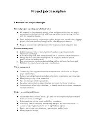 best photos of project description example project description project manager job description