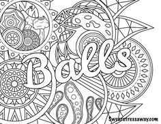 Coloring Pages For Adults Words At Getcoloringscom Free Printable
