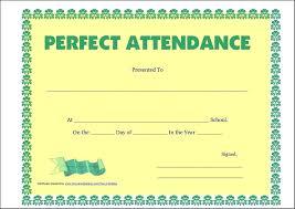 Attendance Award Template Free Attendance Award Certificate Template Example Safety