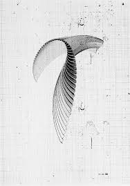 Pleated Wing In 2019 Geometric Art Art Abstract Drawings
