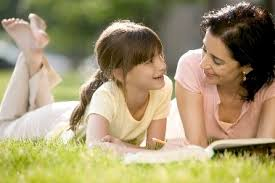 Image result for pictures of children parents talking about God