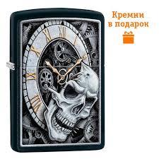 Фото Зажигалка Zippo Skull Clock Design 29854 ... - ROZETKA