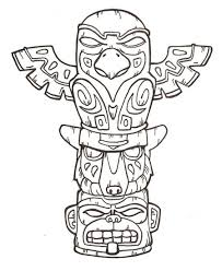 Totem Pole Design Template Printable Totem Pole Coloring Pages Coloring Me Totem Pole