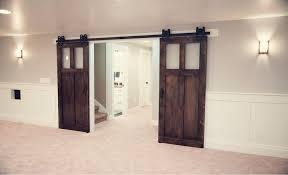elegant door bypass hardware kit ceiling mount sliding barn on inside idea 11