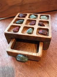 Game With Rocks And Wooden Board Classy Tic Tac Toe Game Wooden Board River Rock Drawer Underneath Nine