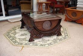 small unusual wine barrel coffee table creative coffee tables large