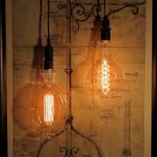 wine lighting. vintage glass light bulb pendant wine lighting