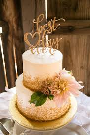 the smarter way to wed wedding cake gold sprinkles and wedding cake