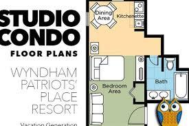 wyndham patriots place studio floor plan