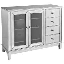 hayworth mirrored silver  tv stand  pier  imports
