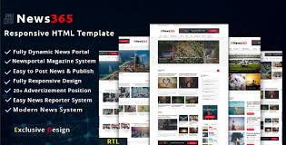 Newspaper Html Template News365 Newspaper Magazine Blog Html Multipurpose Template With