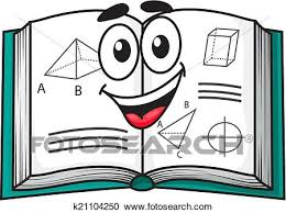 clipart happy smiling cartoon textbook fotosearch search clip art ilration murals
