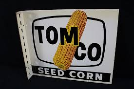 Corn Flange Tomco Seed Hybrid Dealer Sign qw8Y81Z