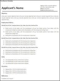 Free Resume Printable Templates Free Printable Resume Templates