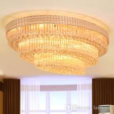new design royal led crystal ellipse chandeliers light k9 crystal pendant chandelier ceiling lamp hotel villa project chandelier round surface