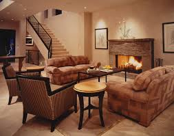 this way the rusted brown color of the couch and the gorgeous pattern of the rug do not override each other