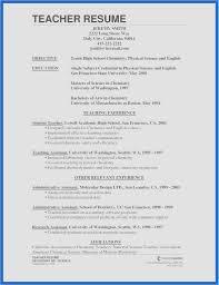 Sample Resume For High School Chemistry Teacher Inspiring Collection