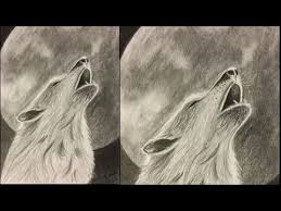 white wolf howling drawing. Simple Wolf Wolf Howling At Moon Drawing Tutorial Throughout White 6