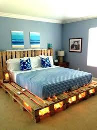 pallet bed frame instructions pallet bed frame how to make a pallet bed frame with lights