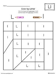 Uppercase Letter L Color by Letter Worksheet