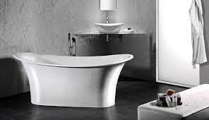 freestanding bathtub oval resin limestone