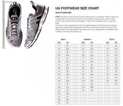 Under Armour Shoe Conversion Chart 42 Exhaustive Size Chart For Youth Under Armour