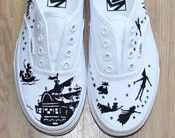 vans shoes drawn on. peter pan \ vans shoes drawn on