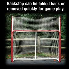 ezgoal monster hockey puckstopper backstop rebounder 4 targets fits all goals